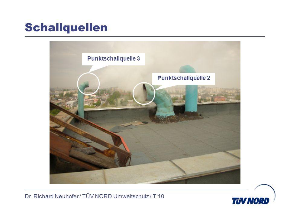 Schallquellen Dr. Richard Neuhofer / TÜV NORD Umweltschutz / T 10 Punktschallquelle 3 Punktschallquelle 2