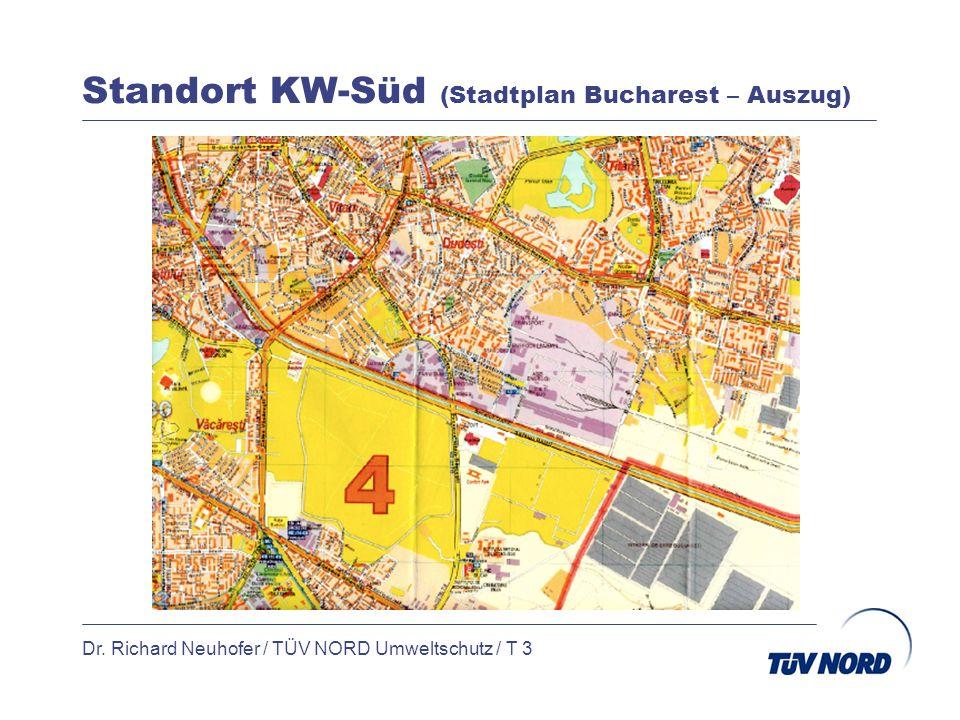 Standort KW-Süd (Stadtplan Bucharest – Auszug) Dr. Richard Neuhofer / TÜV NORD Umweltschutz / T 3