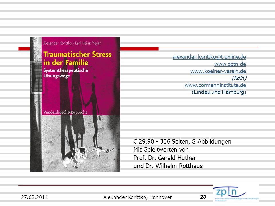 27.02.2014 Alexander Korittko, Hannover 23 alexander.korittko@t-online.de www.zptn.de www.koelner-verein.de (Köln) www.cormanninstitute.de (Lindau und