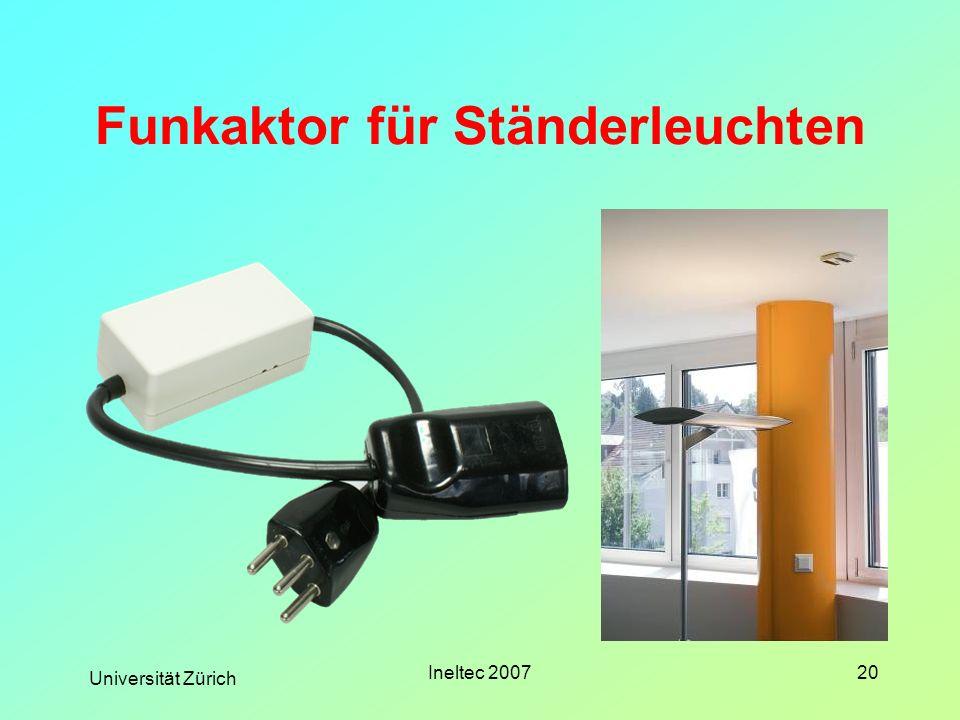 Universität Zürich Ineltec 200720 Funkaktor für Ständerleuchten