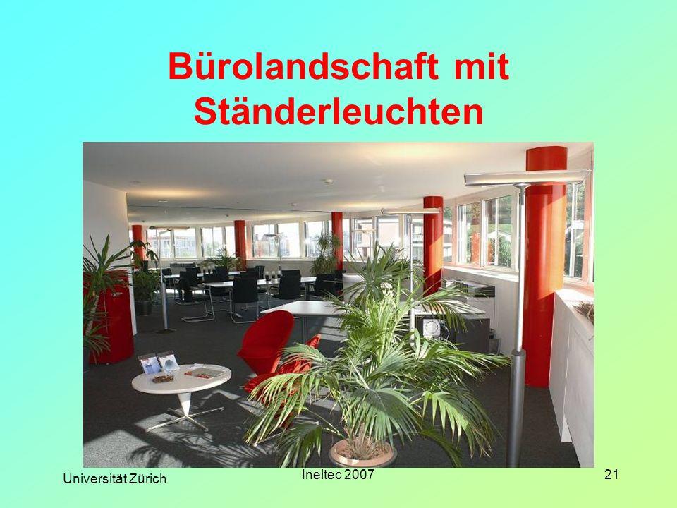 Universität Zürich Ineltec 200721 Bürolandschaft mit Ständerleuchten