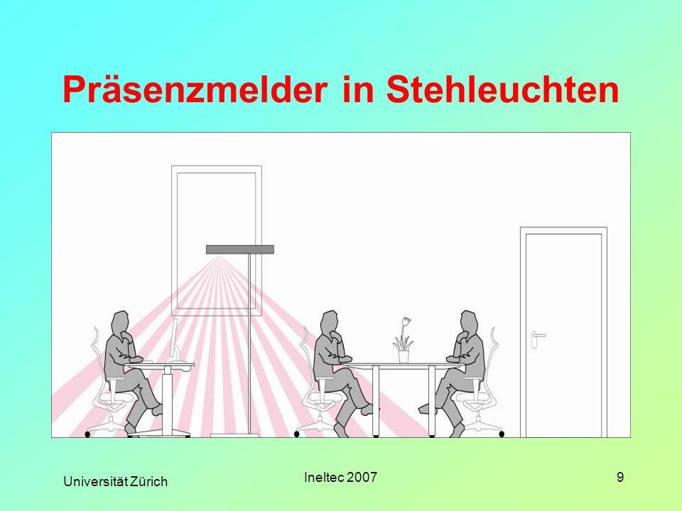 Universität Zürich Ineltec 20079 Präsenzmelder in Stehleuchten