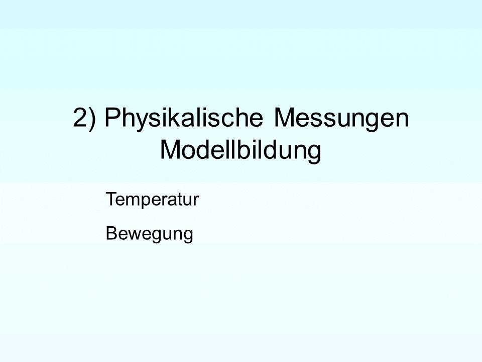 2) Physikalische Messungen Modellbildung Temperatur Bewegung