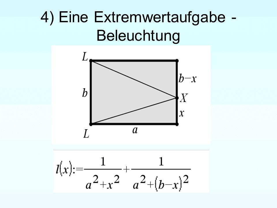 4) Eine Extremwertaufgabe - Beleuchtung