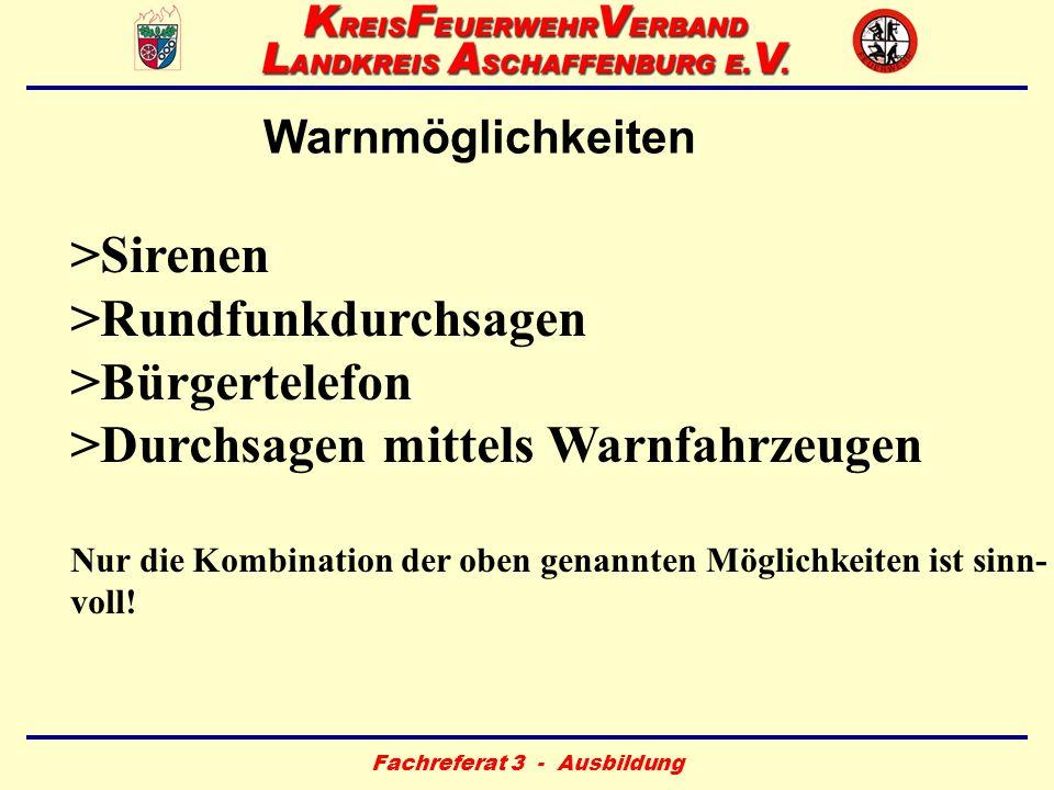 Fachreferat 3 - Ausbildung Rechtliche Voraussetzungen Bayerisches Katastrophenschutzgesetz –Art.