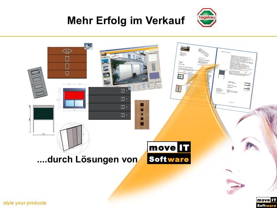 style your products Erfolg für Hornbach Mehr Erfolg im Verkauf....durch Lösungen von
