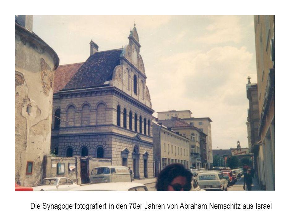 Die Synagoge fotografiert in den 70er Jahren von Abraham Nemschitz aus Israel