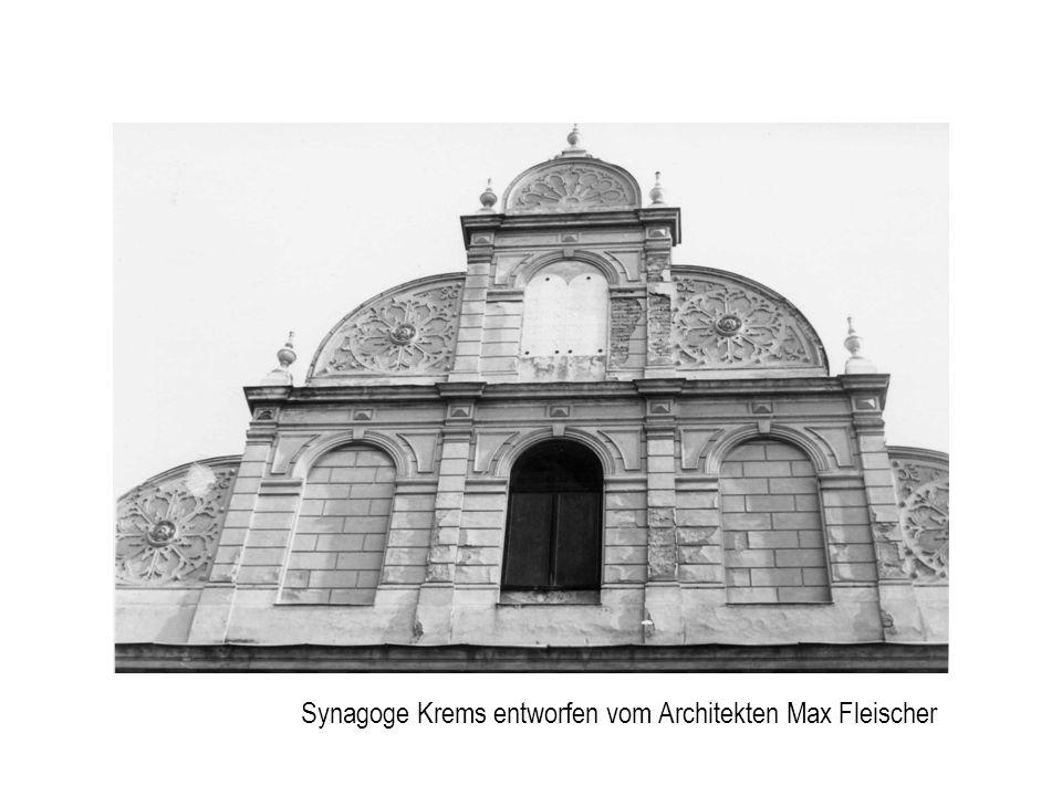 Synagoge Krems entworfen vom Architekten Max Fleischer