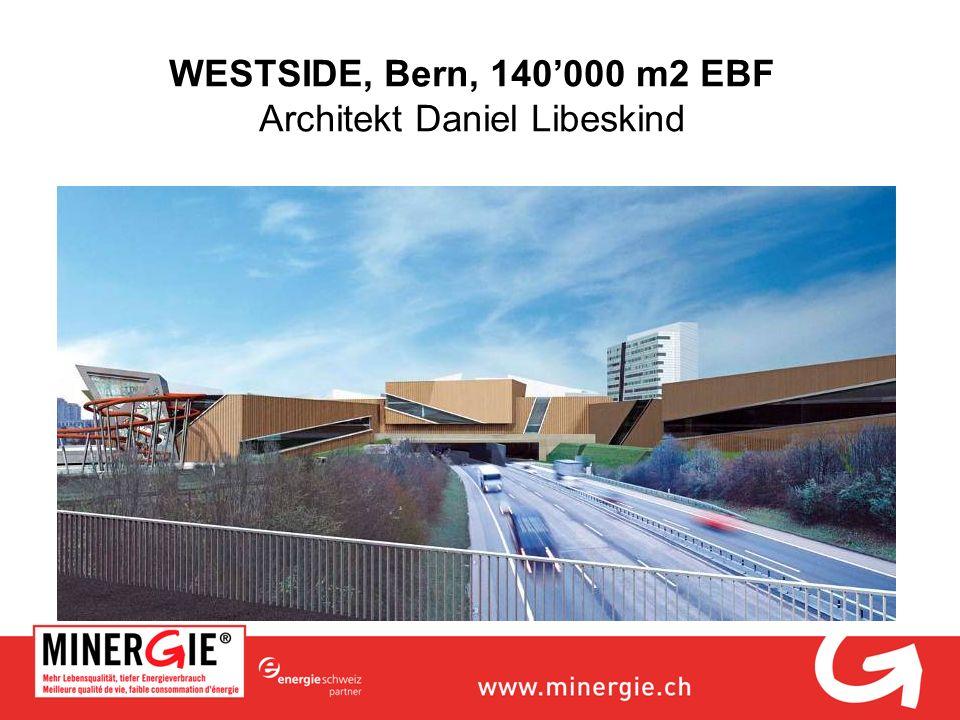WESTSIDE, Bern, 140000 m2 EBF Architekt Daniel Libeskind