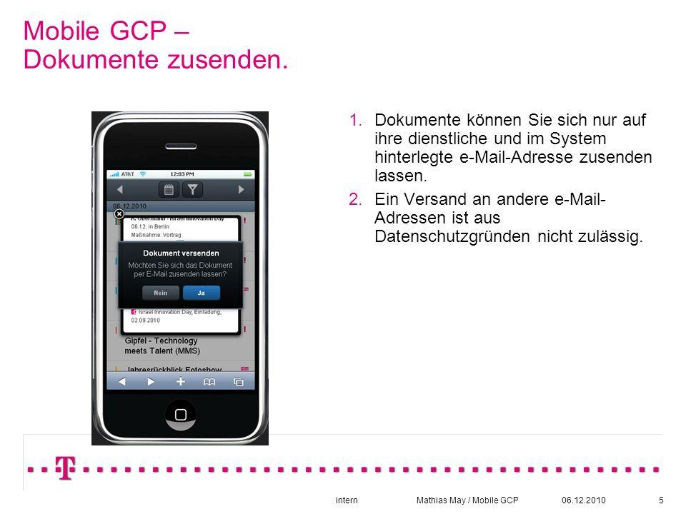 06.12.2010intern Mathias May / Mobile GCP6 Mobile GCP - Datumsauswahl.