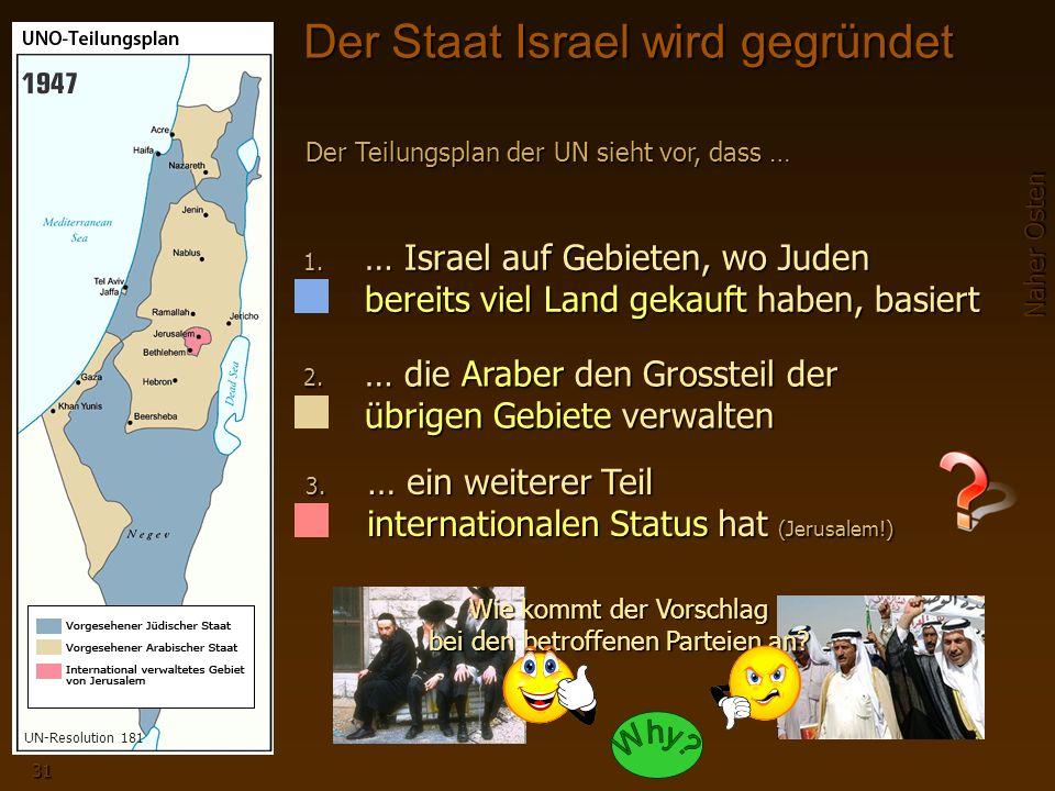 Naher Osten 31 Der Staat Israel wird gegründet 1.