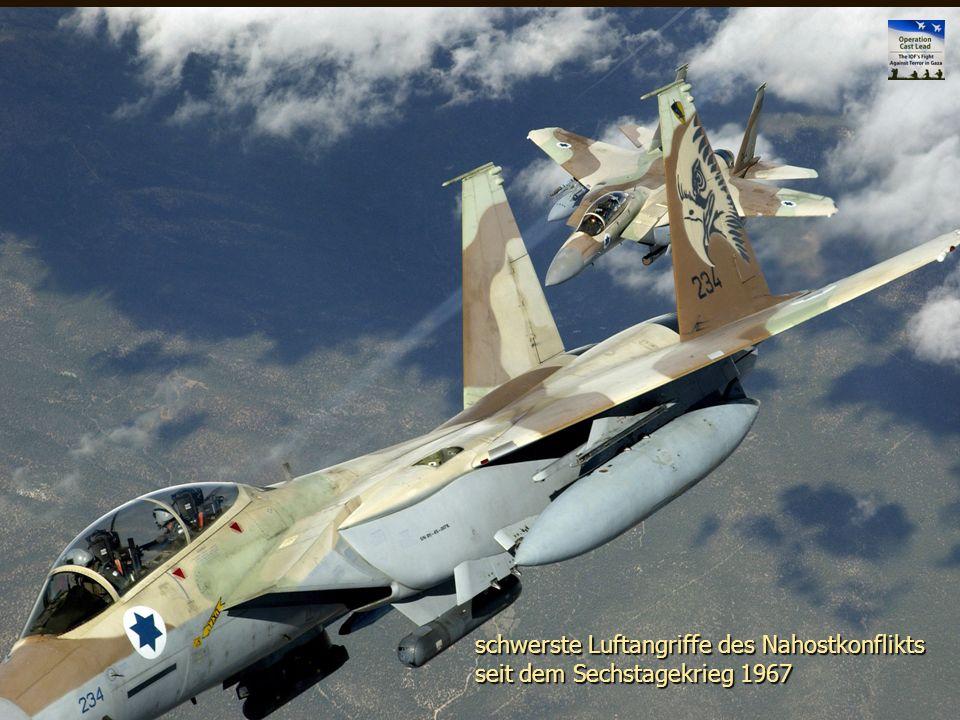 Naher Osten 50 schwerste Luftangriffe des Nahostkonflikts seit dem Sechstagekrieg 1967