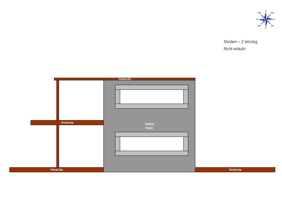 Salbei Haus Veranda Modern – 1 stöckig erlaubt