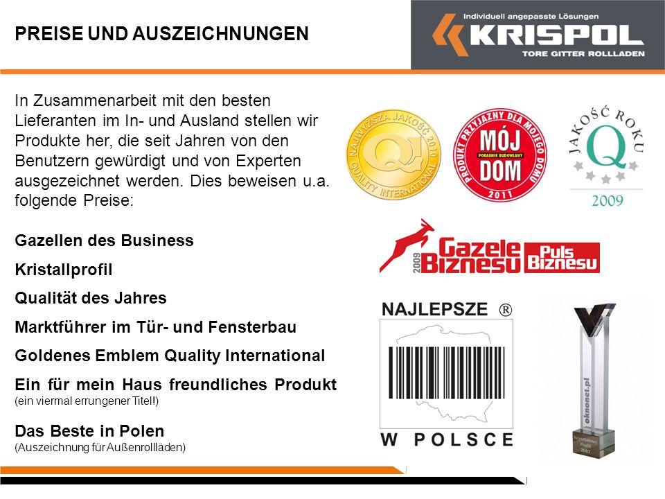 VERTRIEB KRISPOL betreibt den Verkauf von fertigen Produkten, die für eine direkte Montage im Objekt vorgesehen sind.