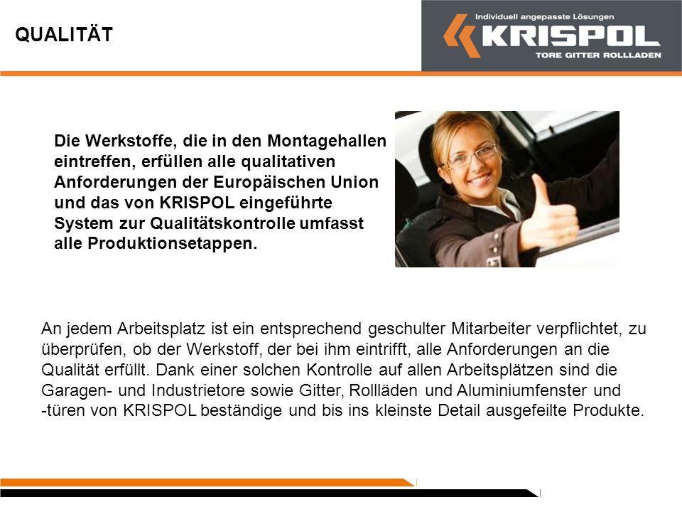 LOGISTIK Wir liefern die KRISPOL-Produkte in ganz Polen und in vielen Ländern Europas aus.