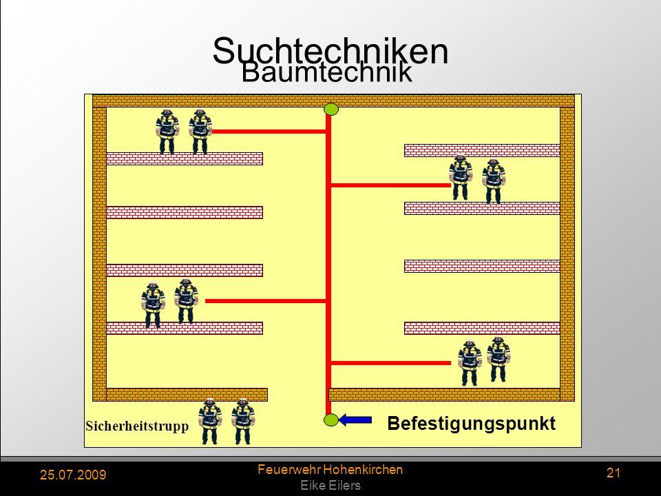 25.07.2009 Feuerwehr Hohenkirchen Eike Eilers 21 Sicherheitstrupp Befestigungspunkt Baumtechnik Suchtechniken
