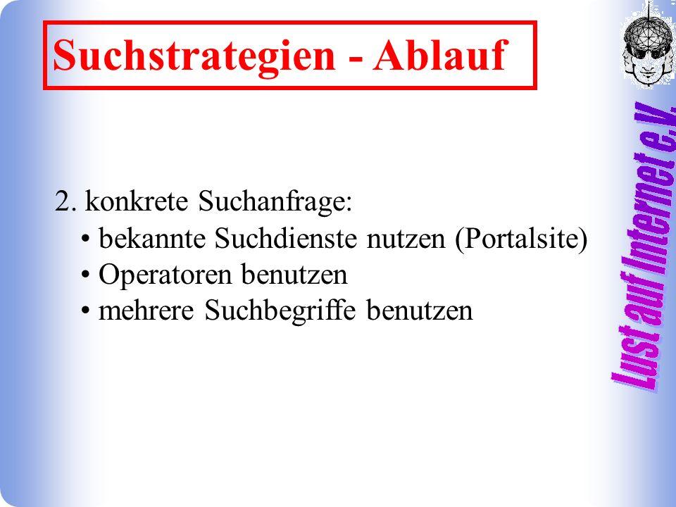 Suchstrategien - Ablauf 2.