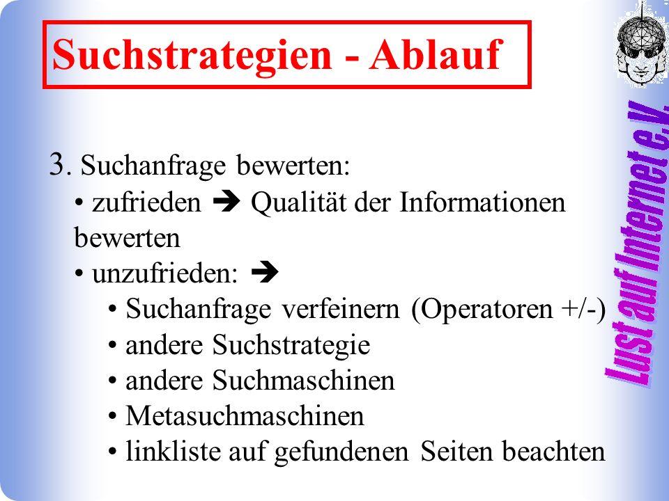 Suchstrategien - Ablauf 3.