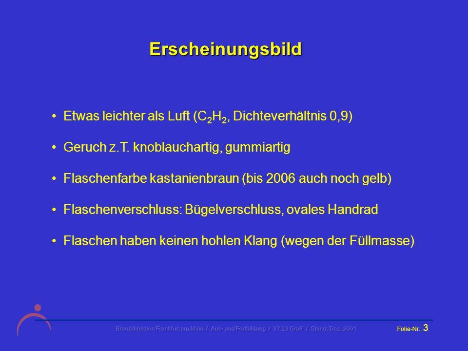 Branddirektion Frankfurt am Main / Aus- und Fortbildung / 37.23 Groß / Stand: Dez.