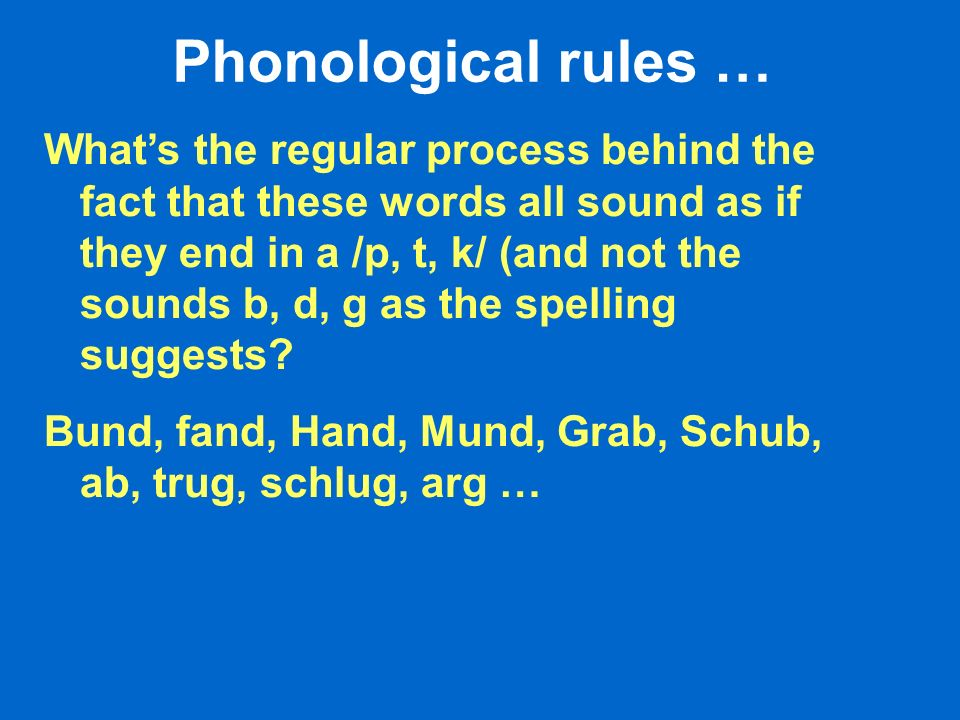 Phonological rules … Whats the regular process behind the fact that these words all sound as if they end in a /p, t, k/ (and not the sounds b, d, g as the spelling suggests.
