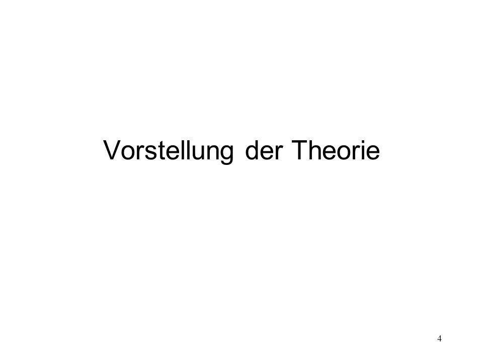 Vorstellung der Theorie 4