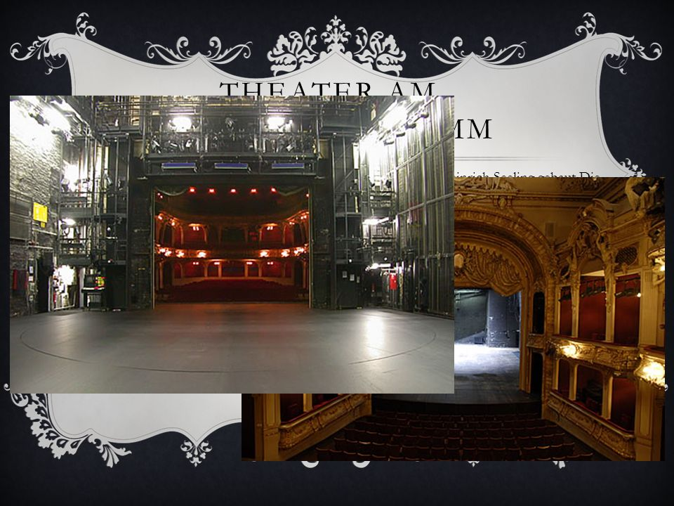 THEATER AM SCHIFFBAUERDAMM Das Theater am Schiffbauerdamm wurde 1892 vom Architekten Heinrich Seeling gebaut.Die Bühne hat eine Schräge von 4%. 1905 w