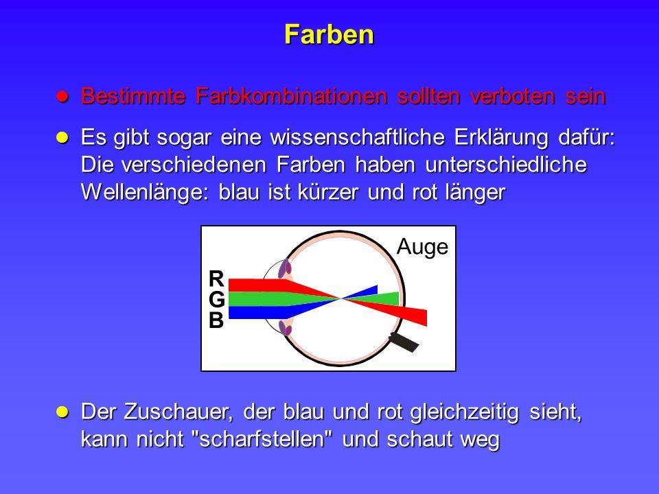 Bestimmte Farbkombinationen sollten verboten sein Bestimmte Farbkombinationen sollten verboten sein Es gibt sogar eine wissenschaftliche Erklärung daf