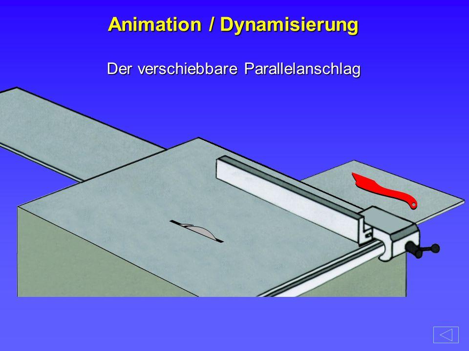 Der verschiebbare Parallelanschlag Animation / Dynamisierung