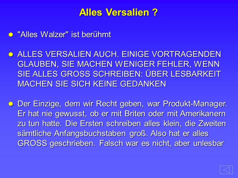 Alles Walzer ist berühmt Alles Walzer ist berühmt ALLES VERSALIEN AUCH.