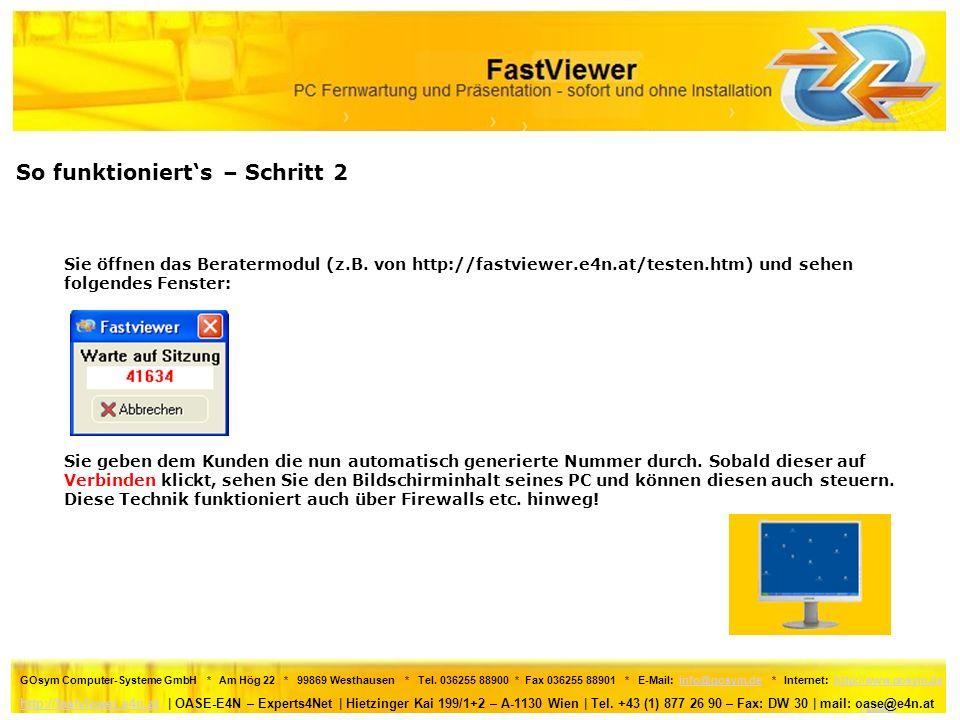GOsym Computer-Systeme GmbH * Am Hög 22 * 99869 Westhausen * Tel.