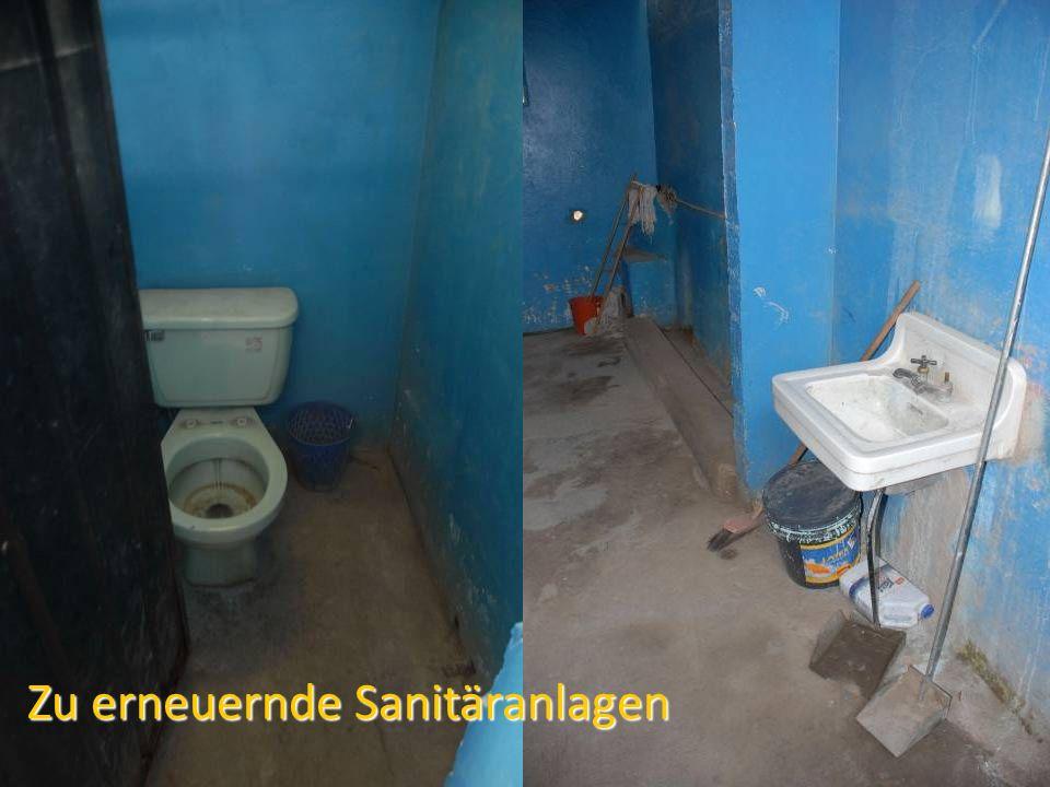 Zu erneuernde Sanitäranlagen