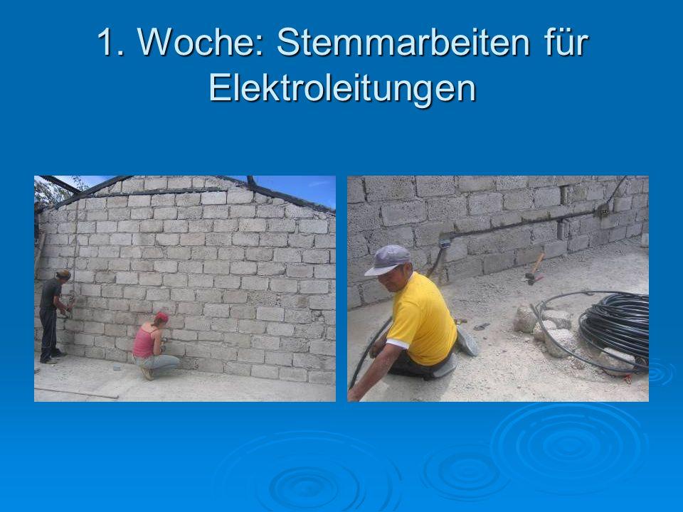 1. Woche: Stemmarbeiten für Elektroleitungen