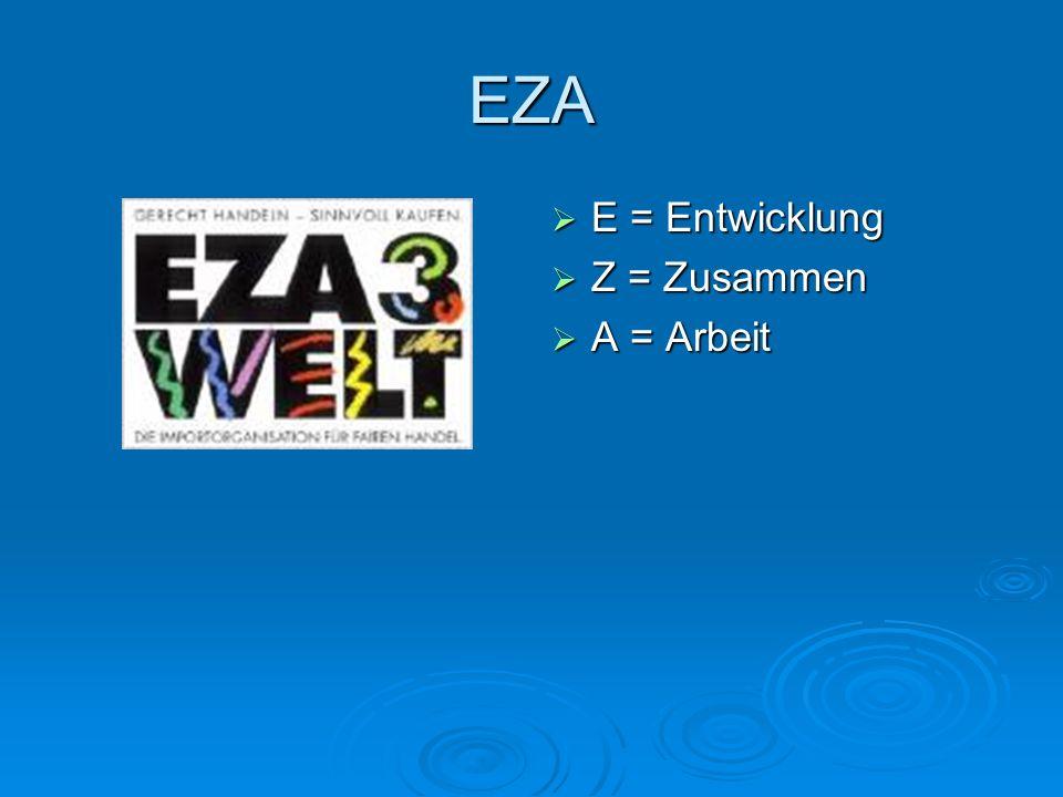 EZA E = Entwicklung E = Entwicklung Z = Zusammen Z = Zusammen A = Arbeit A = Arbeit