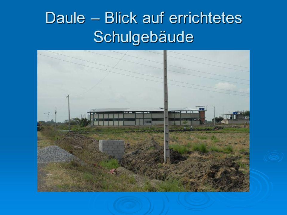 Daule – Blick auf errichtetes Schulgebäude