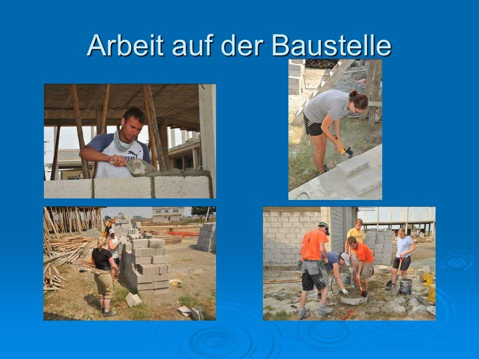 Arbeit auf der Baustelle
