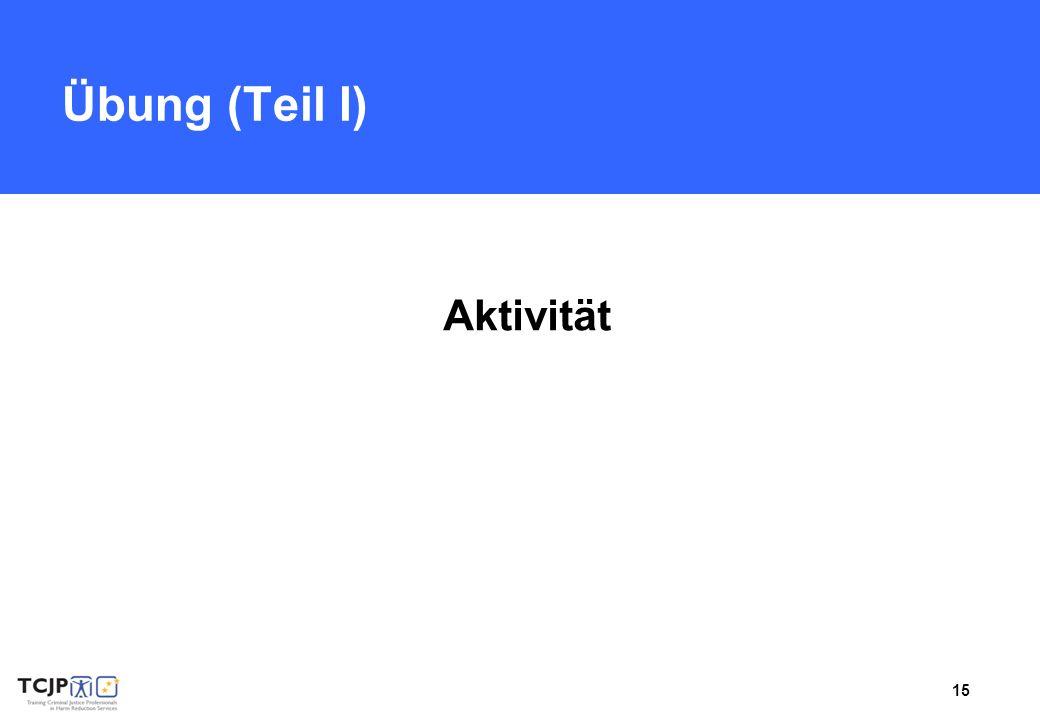 15 Übung (Teil I) Aktivität