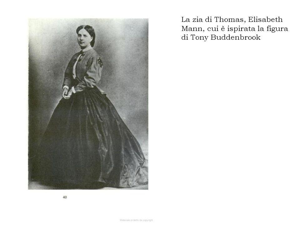 La zia di Thomas, Elisabeth Mann, cui è ispirata la figura di Tony Buddenbrook
