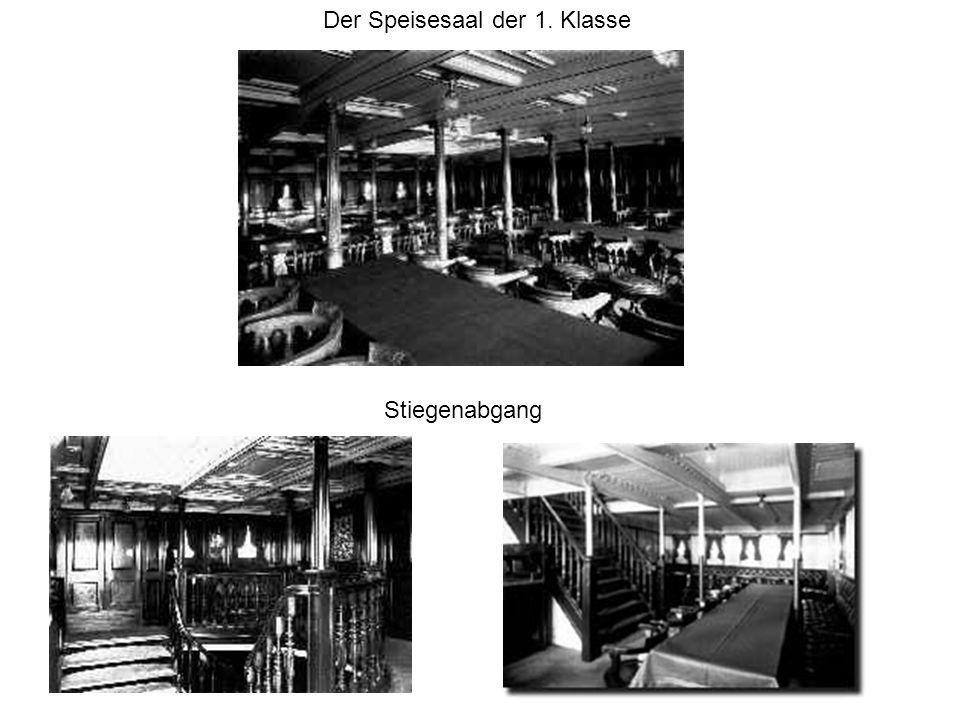Der Speisesaal der 1. Klasse Stiegenabgang
