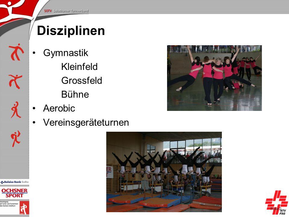 P+L-Konferenzen 2004, SOTV-Fenster Disziplinen Gymnastik Kleinfeld Grossfeld Bühne Aerobic Vereinsgeräteturnen Folie 2