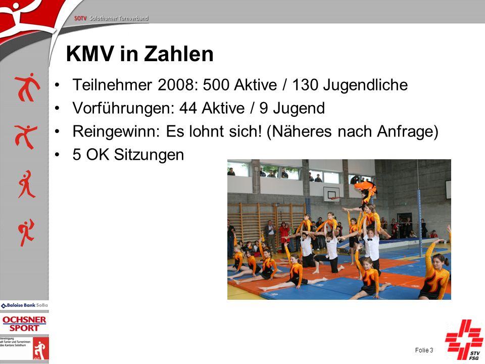 P+L-Konferenzen 2004, SOTV-Fenster KMV in Zahlen Teilnehmer 2008: 500 Aktive / 130 Jugendliche Vorführungen: 44 Aktive / 9 Jugend Reingewinn: Es lohnt sich.