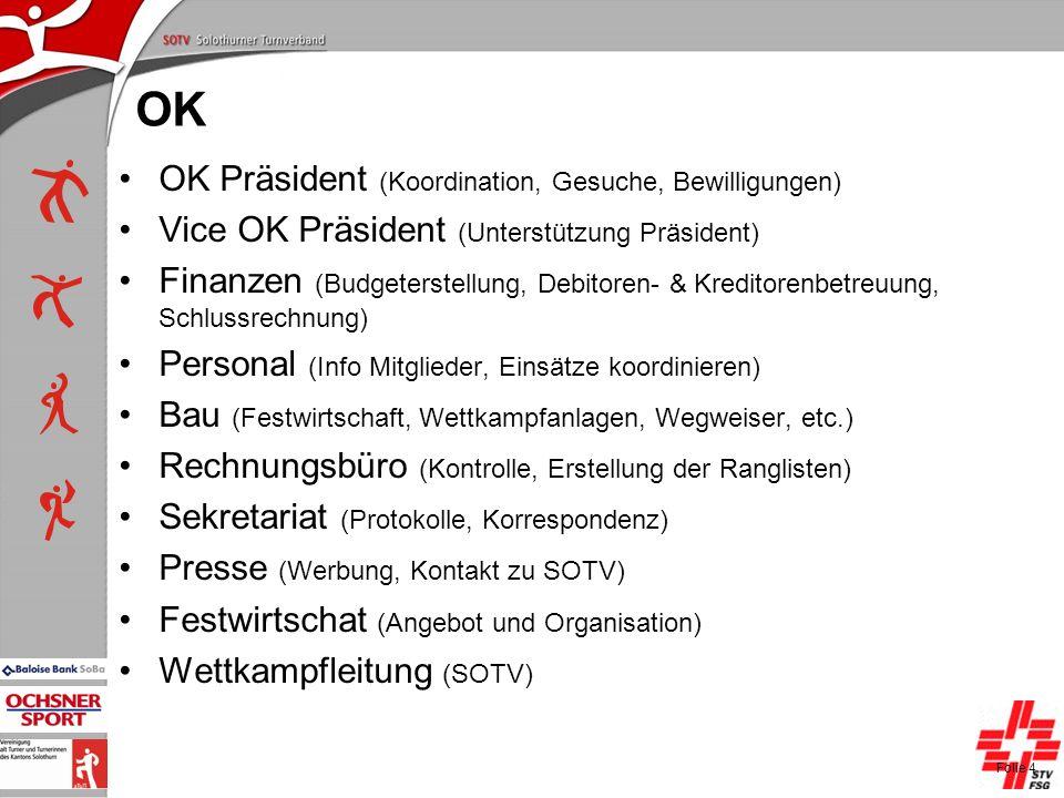 P+L-Konferenzen 2004, SOTV-Fenster OK OK Präsident (Koordination, Gesuche, Bewilligungen) Vice OK Präsident (Unterstützung Präsident) Finanzen (Budget