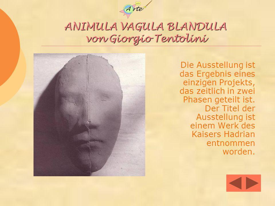 ANIMULA VAGULA BLANDULA von Giorgio Tentolini Die Ausstellung ist das Ergebnis eines einzigen Projekts, das zeitlich in zwei Phasen geteilt ist.