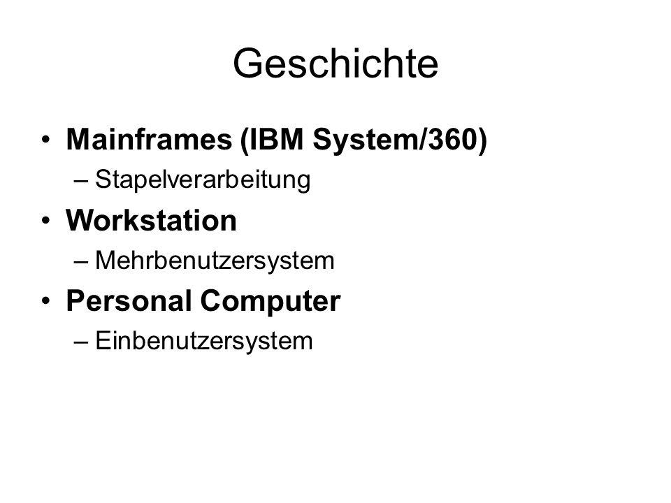 Unix Entwickelt von Bell Labs (1974) Version 6, Version 7 System III, System V, System V.2, System 32V Berkeley System Distribution (BSD) POSIX (Standard für Unix Systeme)