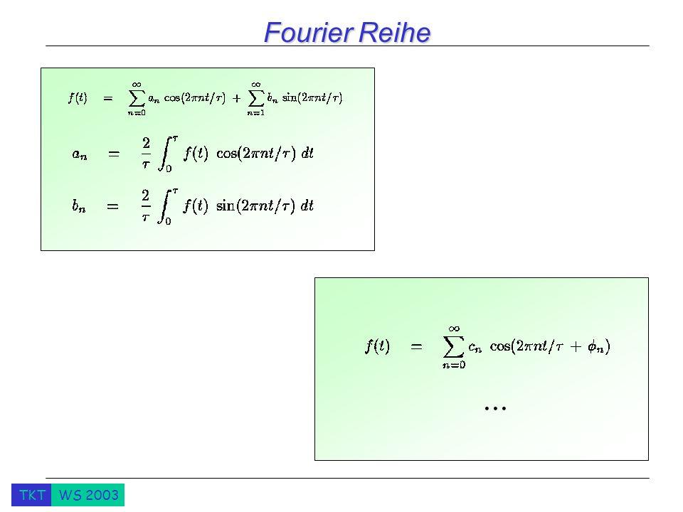 TKTWS 2003 Fourier Reihe...