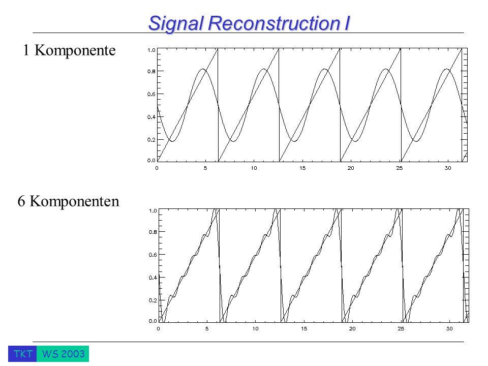 TKTWS 2003 Signal Reconstruction I 1 Komponente 6 Komponenten