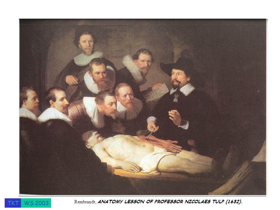 TKTWS 2003 Rembrandt, ANATOMY LESSON OF PROFESSOR NICOLAES TULP (1632).