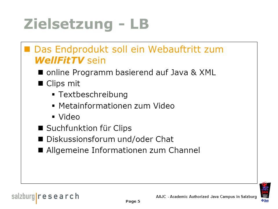 AAJC - Academic Authorized Java Campus in Salzburg Page 26 CSS - Browserprobleme Leider unterstützt kein Browser alle CSS2.0 Definitionen Problemfall - Netscape 4.7 zB: Grafiken in Tabellen ab Netscape 6, Opera 5 und IE 5 viel weniger Probleme