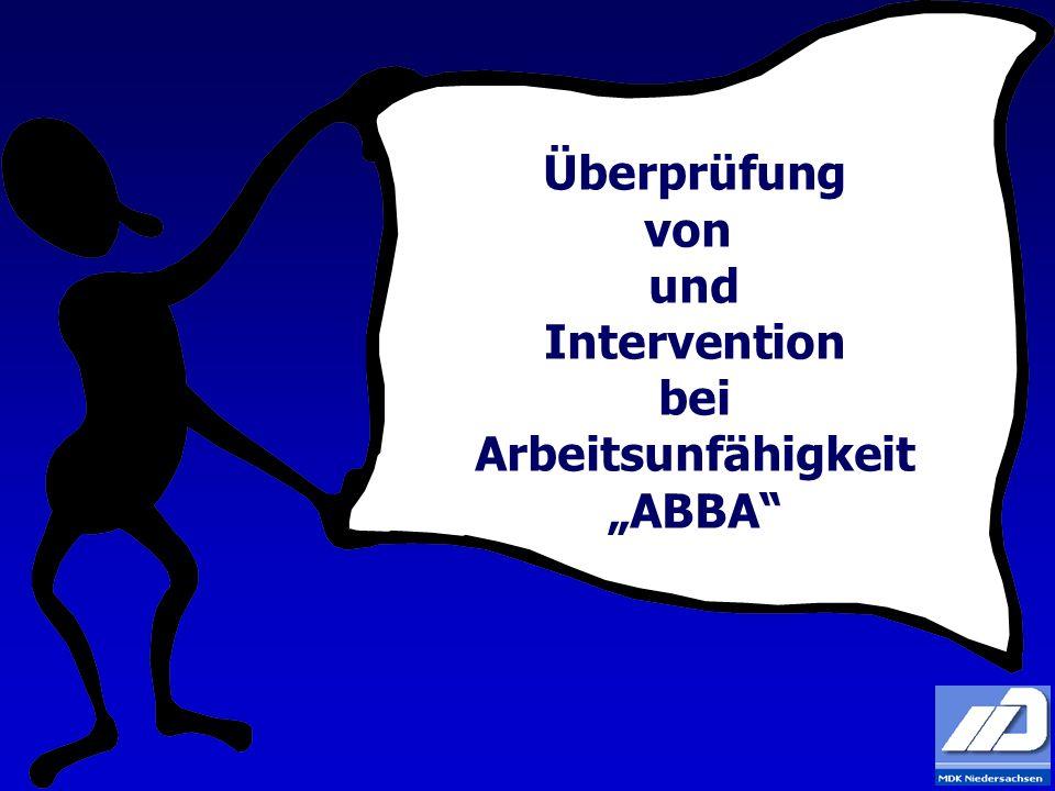 Überprüfung von und Intervention bei Arbeitsunfähigkeit ABBA