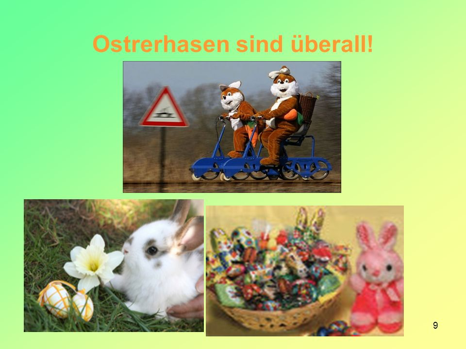 10 The EASTER BUNNY is a popular image of the holiday, originated with the rabbit or hare, an ancient symbol for the moon.