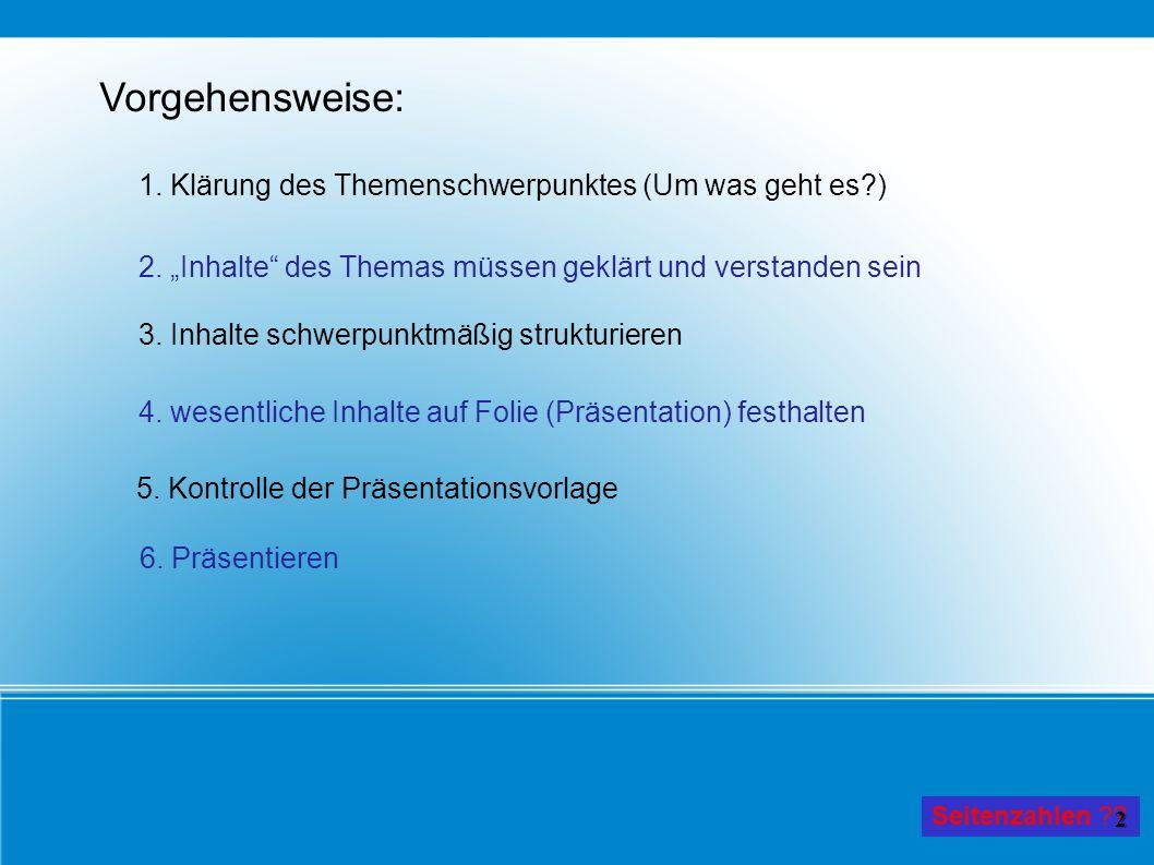 Generelles zum Vortragen!.
